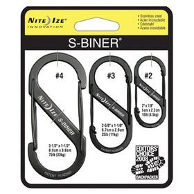 Nite Ize S-Biner 3-Pack Black (01)